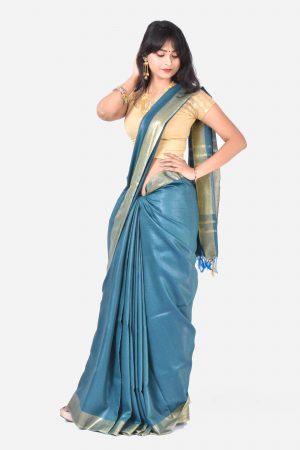 Blue Color Silk Saree