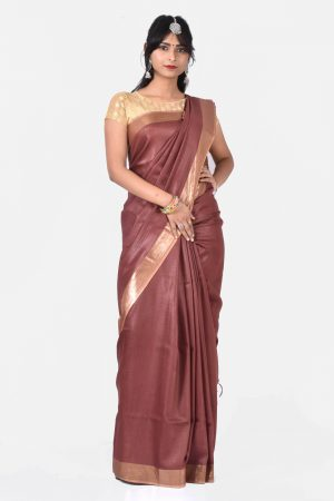 Brown Color Silk Saree