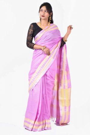 Purple Color Cotton Saree